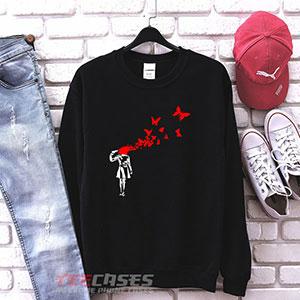 1066 Banksy Stencil Sweatshirt 300x300 - Banksy Stencil sweatshirt Crewneck