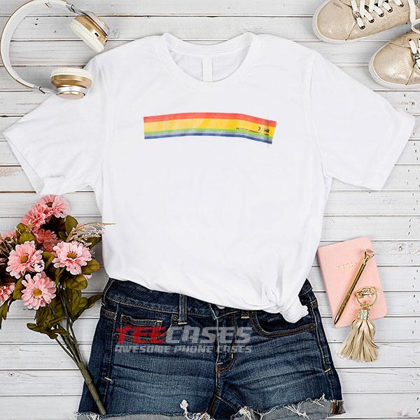 J Galt rainbow tshirt