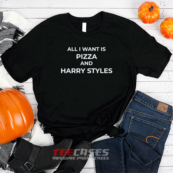 pizza and harry styles tshirt