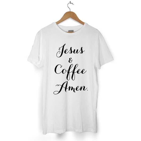 Jesus & Coffee Amen tshirt