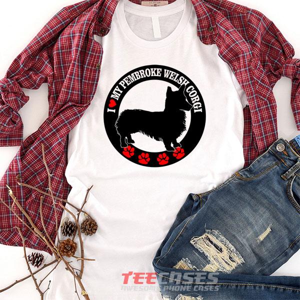 Love My Corgi Dog tshirt