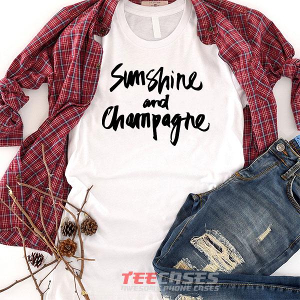 sunshine and champagne tshirt