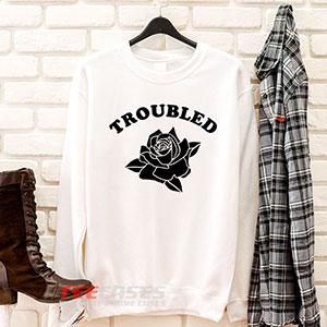 6577 Troubled Rose Sweatshirt 300x300 - Troubled Rose sweatshirt Crewneck