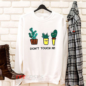 6621 White Letter And Cactus Embroidered Style Sweatshirt 300x300 - White Letter And Cactus Embroidered Style sweatshirt Crewneck